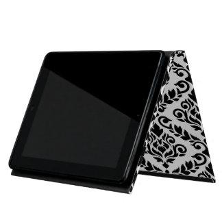 Capa iPad Preto horizontal grande de Ptn do damasco de Prima