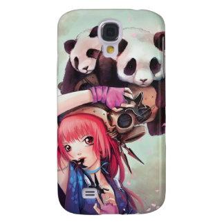 Capa iphone 3 das pandas de Ninja do pêssego