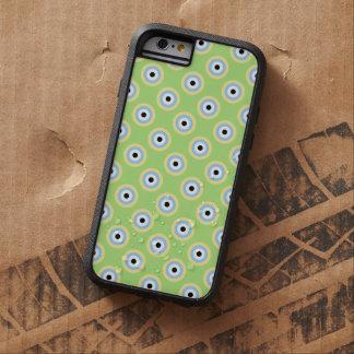 Capa iPhone 6 Tough Xtreme Círculos verdes da combinação por Shirley Taylor
