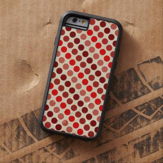 Capa iPhone 6 Tough Xtreme Máscaras de bolinhas vermelhas por Shirley Taylor