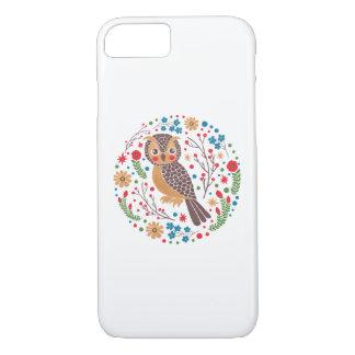 Capa iPhone 8/7 A coruja Horned retro
