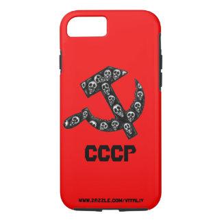 Capa iPhone 8/7 A foice de CCCP URSS e a tinta do martelo encerram