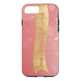 """Capa iPhone 8/7 A folha & o rosa de ouro """"acreditam"""" o caso do"""