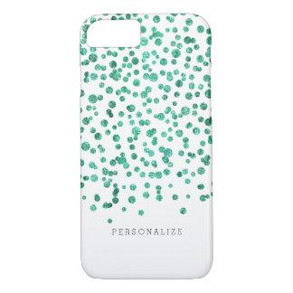 Capa iPhone 8/7 A hortelã brilha confetes