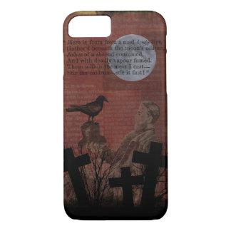 Capa iPhone 8/7 A lua do corvo do vintage do Dia das Bruxas