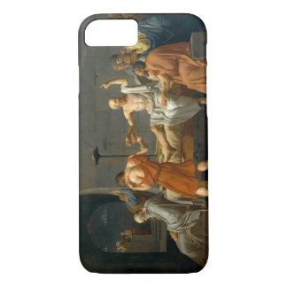 Capa iPhone 8/7 A morte de Socrates por Jacques-Louis David