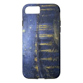 Capa iPhone 8/7 A noite estrelado de Van Gogh sobre o Rhone