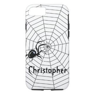 Capa iPhone 8/7 A Web de aranhas apenas adiciona o nome
