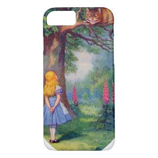 Capa iPhone 8/7 Alice e o gato de Cheshire