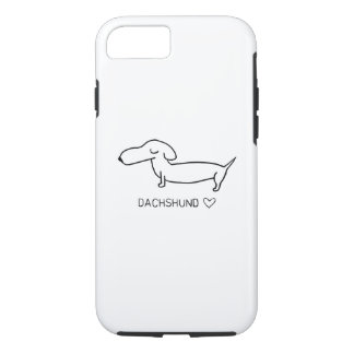 Capa iPhone 8/7 Amor do Dachshund