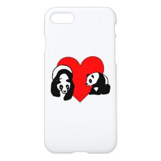 Capa iPhone 8/7 Amor do urso de panda