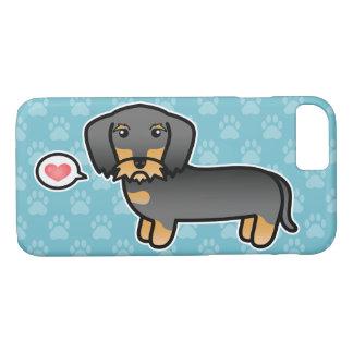 Capa iPhone 8/7 Amor Wirehaired do Dachshund do javali