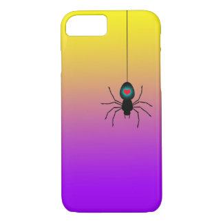 Capa iPhone 8/7 Aranha preta que desce