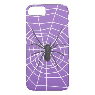 Capa iPhone 8/7 Aranha roxa/preta o Dia das Bruxas