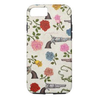 Capa iPhone 8/7 Armas e rosas doces