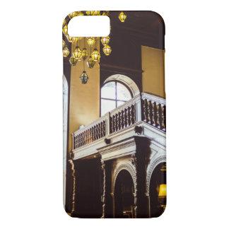 Capa iPhone 8/7 Arquitetura interior de madeira do castelo de