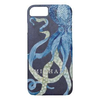 Capa iPhone 8/7 Arte da aguarela do coral vermelho de w do polvo