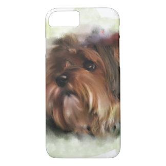 Capa iPhone 8/7 Arte digital bonito do cão de filhote de cachorro