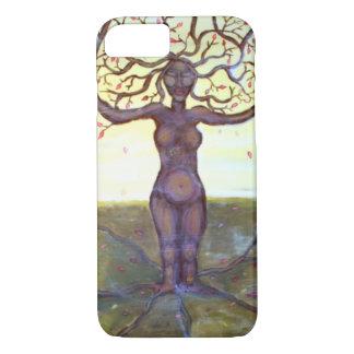 "Capa iPhone 8/7 Arte ""enraizada"" da fantasia da deusa da árvore"