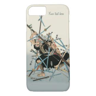 Capa iPhone 8/7 Arte oriental 3 do guerreiro do samurai