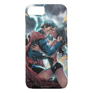 Capa iPhone 8/7 Arte relativa à promoção cómica do superman/mulher