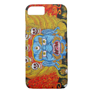 Capa iPhone 8/7 Arte tibetana oriental legal do tatuagem do