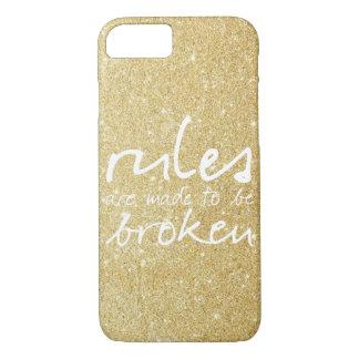 Capa iPhone 8/7 As regras do ouro são feitas para ser caso