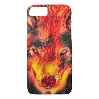 Capa iPhone 8/7 Ateie fogo à caixa do iPhone 7 de Apple da arte da