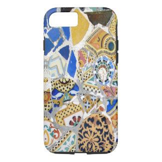Capa iPhone 8/7 Azulejos amarelos de Gaudi - espelho