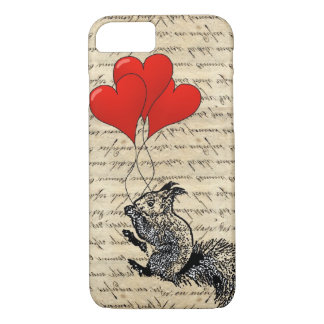 Capa iPhone 8/7 Balões do esquilo e do coração