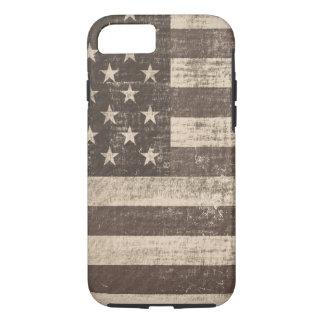Capa iPhone 8/7 Bandeira americana 5 do vintage