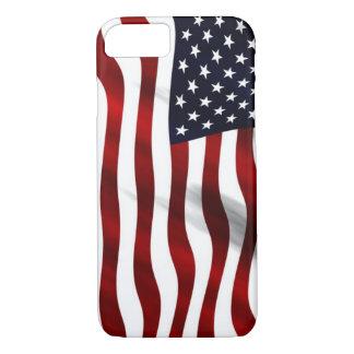 Capa iPhone 8/7 Bandeira americana de ondulação