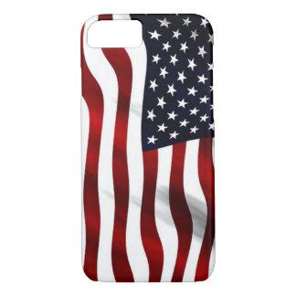 Capa iPhone 8/7 Bandeira americana de ondulação patriótica