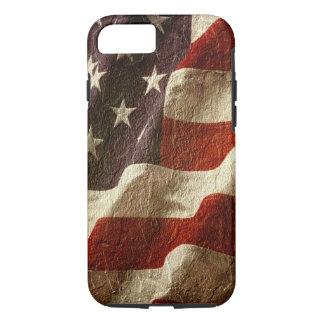 Capa iPhone 8/7 Bandeira americana patriótica de ondulação