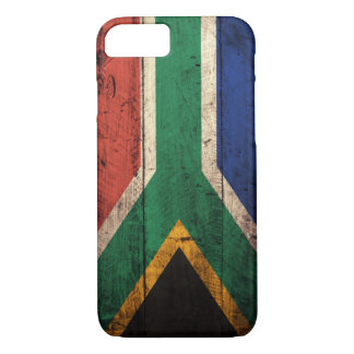 Capa iPhone 8/7 Bandeira de madeira velha de África do Sul