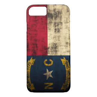Capa iPhone 8/7 Bandeira de North Carolina do Grunge do vintage