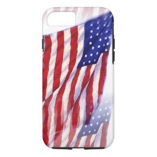 Capa iPhone 8/7 Bandeira de ondulação dos E.U.