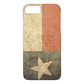 Capa iPhone 8/7 Bandeira de Texas - Grunge