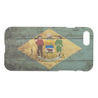 Capa iPhone 8/7 Bandeira do estado de Delaware na grão de madeira
