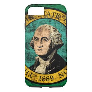 Capa iPhone 8/7 Bandeira do estado do Grunge do vintage de