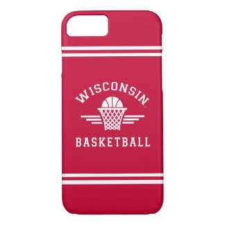 Capa iPhone 8/7 Basquetebol de Wisconsin |