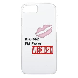 Capa iPhone 8/7 Beije-me, mim são de Wisconsin