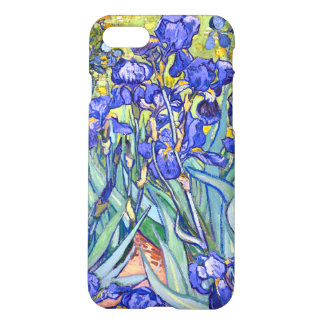 Capa iPhone 8/7 Belas artes florais do vintage das íris de Vincent