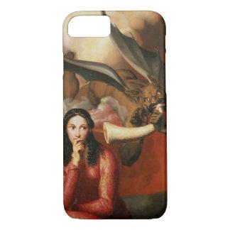 Capa iPhone 8/7 Bens e o mal: o diabo que tenta uma jovem mulher,