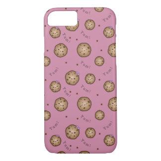 Capa iPhone 8/7 Biscoitos dos pedaços de chocolate de Kawaii