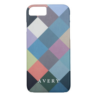 Capa iPhone 8/7 Blocos multicoloridos geométricos dos padrões |