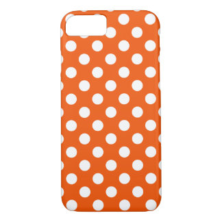 Capa iPhone 8/7 Bolinhas brancas na laranja