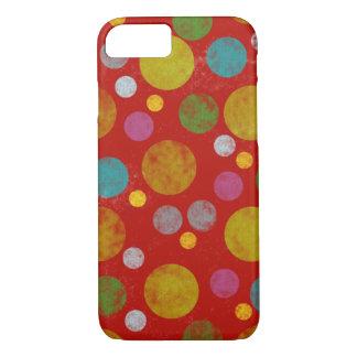 Capa iPhone 8/7 bolinhas coloridas