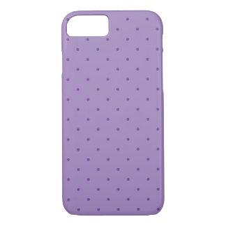 Capa iPhone 8/7 Bolinhas roxas minúsculas no roxo