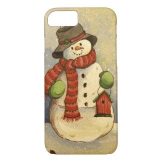 Capa iPhone 8/7 Boneco de neve 4905 & Birdhouse